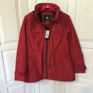 Weather Tamer Red Hooded Coat/ Jacket